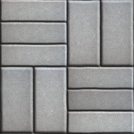 perpendicular: Gray Pave Slabs Rectangles Arranged Perpendicular to Each other Two or Three Pieces. Seamless Tileable Texture.