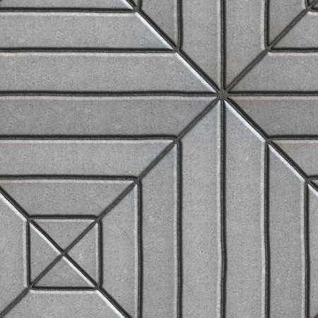 varying: Gray Paving Slabs Rectangles of Varying Lengths Laid in a Square. Seamless Tileable Texture.