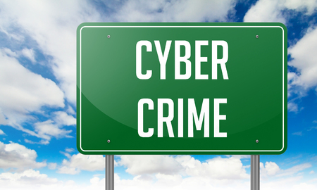 cyber crime: Cyber Crime with Local Search Marketing wording on Sky Background,