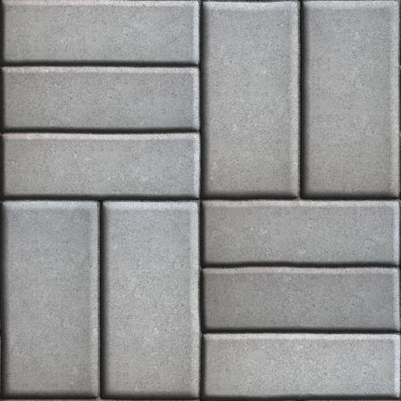 perpendicular: Grigio pavimenta Lastre rettangoli posti verticalmente l'uno altri due o tre pezzi. Senza giunte di Tileable.