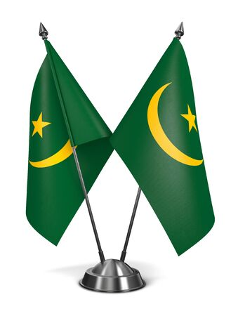 moresque: Mauritania - Miniature Flags Isolated on White Background.