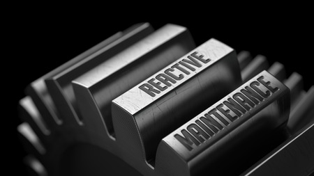 reactive: Reactive Maintenance on the Metal Gears on Black Background.