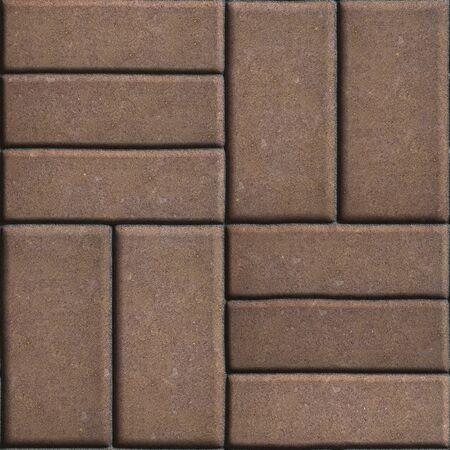 perpendicular: Brown pavimenta Lastre rettangoli posti verticalmente l'uno gli altri due o tre pezzi. Senza giunte di Tileable. Archivio Fotografico