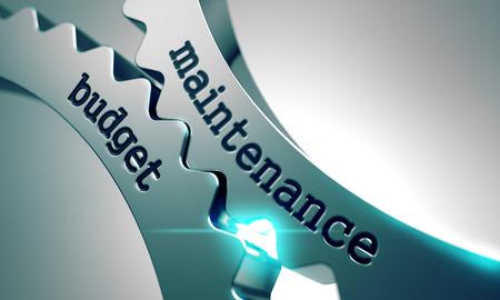 Budget de maintenance sur le Mécanisme d'Engrenages en métal. Banque d'images - 40197798