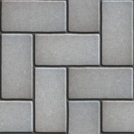 slabs: Gray Paving of Sidewalk Slabs Rectangles. Seamless Tileable Texture.