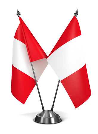 republic of peru: Peru - Miniature Flags Isolated on White Background.