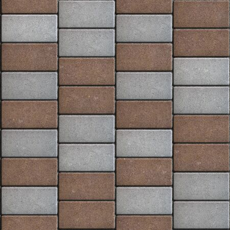 manner: Brown  Paving Consisting of  Rectangles Laid Out in a Chaotic Manner. Seamless Tileable Texture.