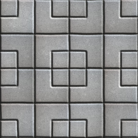 concrete form: Concrete Slabs Paving Gray in the Form Square of Different Geometric Shapes. Seamless Tileable Texture. Stock Photo