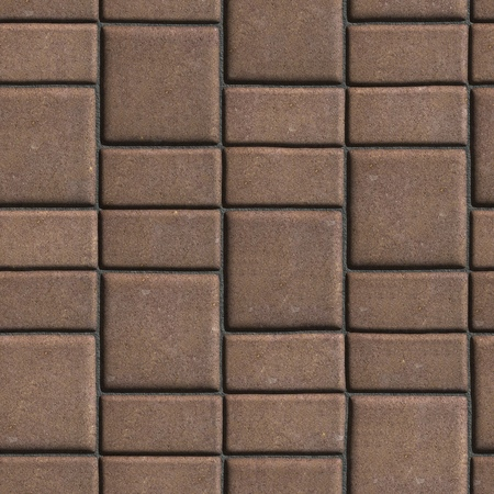 mimic: Brown Paving Slabs that Mimic Natural Stone. Seamless Tileable Texture. Stock Photo