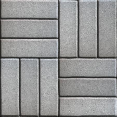 perpendicular: Grigio con lastre di Rettangoli disposto su tre pezzi perpendicolari tra loro. Senza giunte di Tileable.