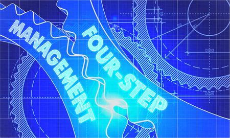 change business: Four-Step Management Concept.