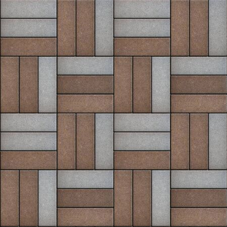 laid: Gray and Brown Rectangles Randomly Laid Weave. Seamless Tileable Texture.