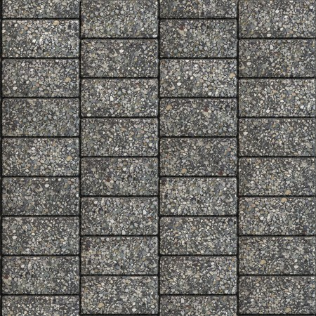 horizontally: Grainy Gray Pavement in the shape of Rectangles, Arranged Horizontally. Seamless Tileable Texture.