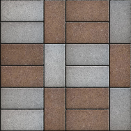 perpendicular: Two-tone Rectangular Pavement laid Parallel and Perpendicular. Seamless Tileable Texture.