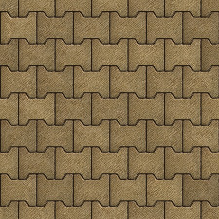 figured: Sand Color Figured Paving Slabs. Seamless Tileable Texture.