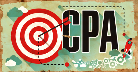 cpa: CPA - Cost per Action - Concept. Poster in Flat Design. Business Concept.