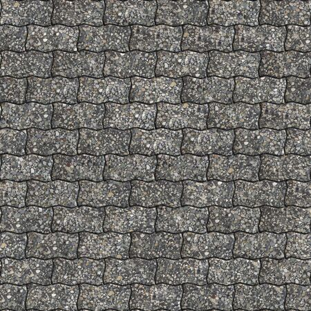 slabs: Multi-Colore Paving Slabs as Wavy Parallelograms. Seamless Tileable Texture.