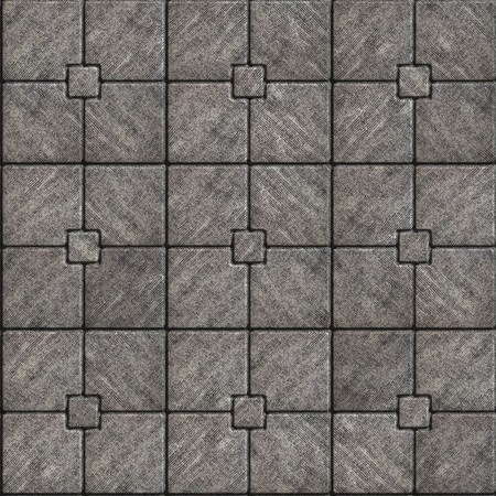 ribbed slab: Gray Paving Slabs with Rough Ribbed Surface. Its Pattern of Four Big Squares with Little Square in Center. Seamless Tileable Texture.