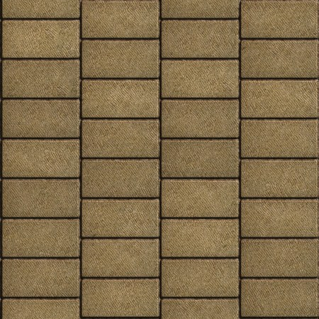 horizontally: Sand Color Tiles in the Form of Rectangles Laid out Horizontally. Seamless Tileable Texture.