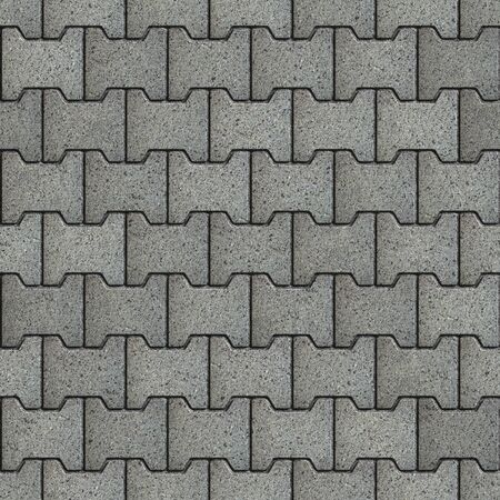 seamless tile: Gray Figured Paving Slabs with the Effect of Marble. Seamless Tileable Texture.