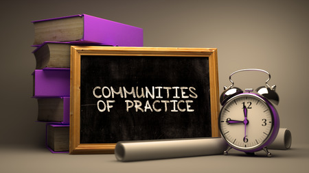 rationale: Communities of Practice Concept Hand Drawn on Chalkboard. Blurred Background. Toned Image. 3D Render.