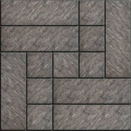 scuffed: Rectangular Gray Paving Slabs with Scuffed.  Seamless Tileable Texture.