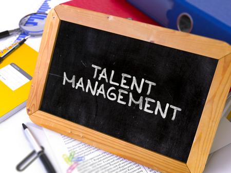 talent management: Hand Drawn Talent Management Concept  on Chalkboard. Blurred Background. Toned Image. 3D Render.