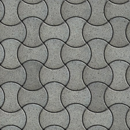 streamlined: Gray Paving Slabs with the Effect of Marble in Streamlined Form. Seamless Tileable Texture.
