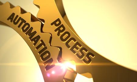 formalization: Process Automation on the Mechanism of Golden Metallic Cogwheels. Process Automation on Mechanism of Golden Cogwheels with Lens Flare. Process Automation on Golden Metallic Gears. 3D.