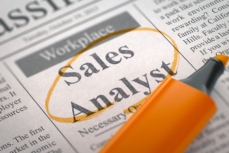title role newspaper with jobs sales analyst sales analyst job vacancy in newspaper