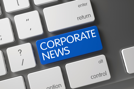 domestic policy: Button Corporate News on Modernized Keyboard. Corporate News on Modern Keyboard Background. Corporate News Key. Corporate News Key on Modernized Keyboard. 3D.