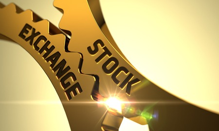 Stock Exchange - Illustration with Lens Flare. 3D.