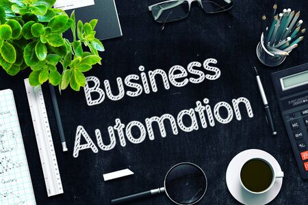 formalization: Business Automation Concept on Black Chalkboard. 3d Rendering. Toned Image. Stock Photo
