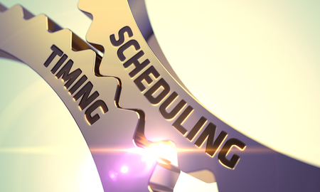 scheduling: Scheduling Timing - Illustration with Glow Effect and Lens Flare. 3D Render.