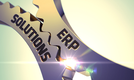 traceability: ERP Solutions on Mechanism of Golden Cogwheels. 3D.