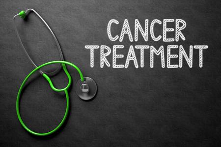 tumor stage: Medical Concept: Black Chalkboard with Cancer Treatment. Black Chalkboard with Cancer Treatment - Medical Concept. 3D Rendering.