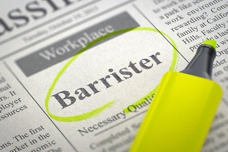 barrister: Barrister Job Vacancy. 3D.
