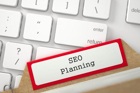 Folder Register with SEO Planning. 3D. Reklamní fotografie