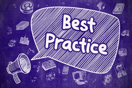 smart goals: Best Practice - Hand Drawn Illustration on Blue Chalkboard.