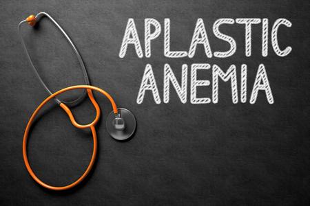 congenital: Aplastic Anemia Handwritten on Chalkboard. 3D Illustration.