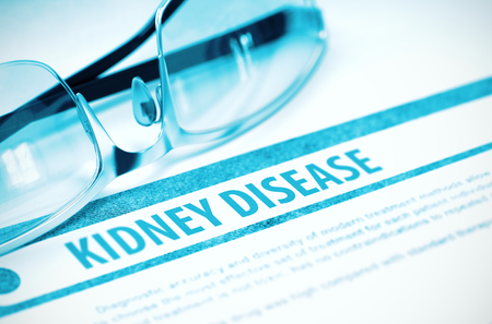 rubella: Kidney Disease. Medicine. 3D Illustration.
