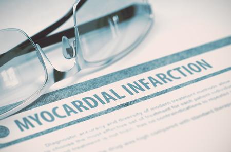myocardial: Myocardial Infarction. Medicine. 3D Illustration.