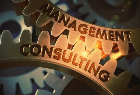 Management Consulting. 3D. Stock Photo