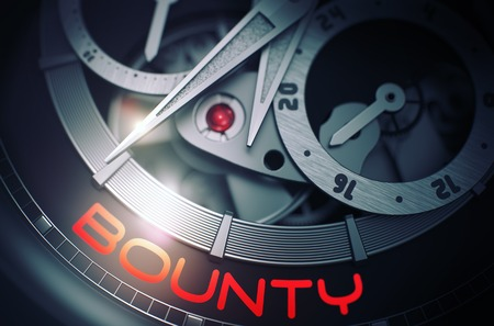 Bounty on Luxury Wristwatch Mechanism. 3D. Stock Photo