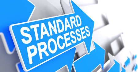 unify: Standard Processes - Message on the Blue Cursor. 3D. Stock Photo