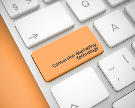 cpc: Conversion Marketing Technology - Text on Orange Keyboard Button