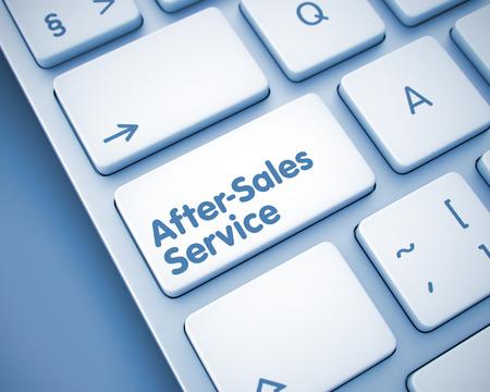 After-Sales Service - Inscription on  Keyboard Keypad. 3D.