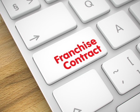 disclosure: Franchise Contract - Message on White Keyboard Keypad. 3D. Stock Photo