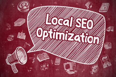 local: Local SEO Optimization - Business Concept.