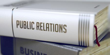 relaciones publicas: Book Title of Public Relations. 3D.